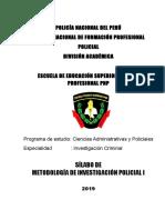 1 Metodología de Investigación Policial i