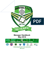 20180516 Cabinteely FC - Manager Handbook