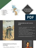Independencia de las colonias españolas en america