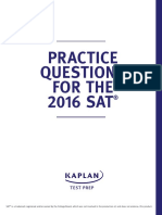 New SAT Free Practice Questions