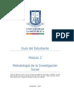 GUIA DEL ESTUDIANTE Modulo 2 Metodología de Investigación Social