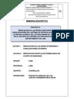 Memoria Descriptiva Piscina Escuela Militar Chorillos