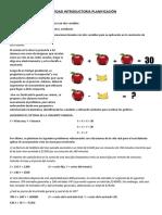 ACTIVIDAD INTRODUCTORIA PLANIFICACIÓN Matemática (sistemas de ecuaciones)