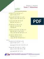 Ejercicios Resueltos Bloque2. Álgebra - Tema1. Polinomios