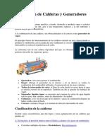 Descripciòn de Calderas y Generadores de Vapor