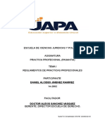 Dr. Alexis SANCHEZ VASQUEZ Tema I Practica Procesional (Pasantia)
