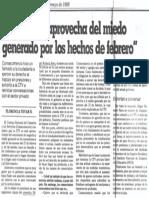 Edgard Romero Nava - La CTV Se Aprovecha Del Miedo Generado Por Los Hechos de Febrero - El Nacional 17.05.1989