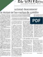 Edgard Romero Nava - La XX Asamblea de Consecomercio Sera en Cumana - El Nacional 19.04.1989