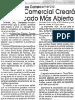 Edgard Romero Nava - Politica Comercial Creara Un Mercado Mas Abierto - El Bolivariense 23.06.1989