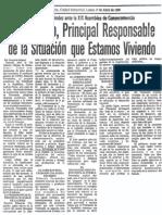 Eduardo Fernandez - El Gobierno, principal responsable de la situacion que estamos viviendo - El Carabobeño 17.04.1989