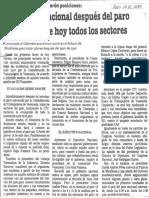 Evaluacion Nacional Despues Del Paro Ejecutan Hoy Todos Los Sectores - Diario 2001 19.05.1989