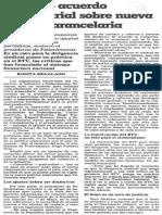 Firmado Acuerdo Empresarial Sobre La Nueva Politica Arancelaria - 1989