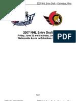 2007 Senators Draft