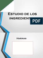 Estudio de Los Ingredientes
