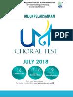 Petunjuk Pelaksanaan Um Choral Fest