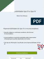 Hipersensibilidade III e IV