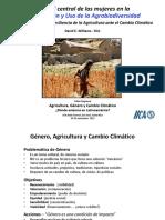 Género, Agricultura y cambio climático