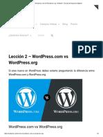 Lección 2 - Wordpress.com vs Wordpress