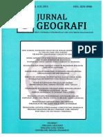 Kajian Karakteristik DAS Lukulo Hulu Dengan Menggunakan Data Inderaja Dan Sistem Informasi Geografis