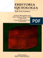Lorenzo, J.L. Prehistoria y Arqueologia 1991