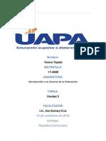 Nombre tarea 2 de introducion a la ciencia de la educacion yanna.docx