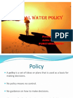 National Water Policy Ppt