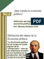 Definición Del Objeto de La Economía Política