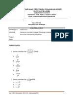 2. Soal Usbn Matematika Kel. Psp 2019