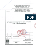 13.NCS2-PVE-ReFD-1!06!02-SP-009_Specification for Offshore Pipeline Field Welding and NDT _Rev AC