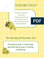 Procedure text
