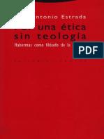 Juan Antonio Estrada Por Una Etica Sin Teologia