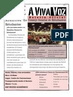 A VIVA VOZ- Boletín del CGE, Río Piedras. Tema