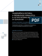 transParÊncia editorial