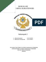 MAKALAH PEWARNA KARATENOID KELOMPOK 2 TPH.docx
