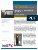 High-Velocity Small-Diameter Duct System