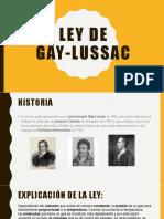 Ley de Gay Lussac