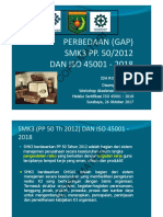 GAP SMK3 dan ISO 45001