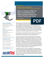 Effect of Ducted HPWH on Space Conditioning and Water Heating Energy Use – Central Florida Lab Home