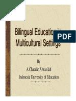 billingual education multicultural setting