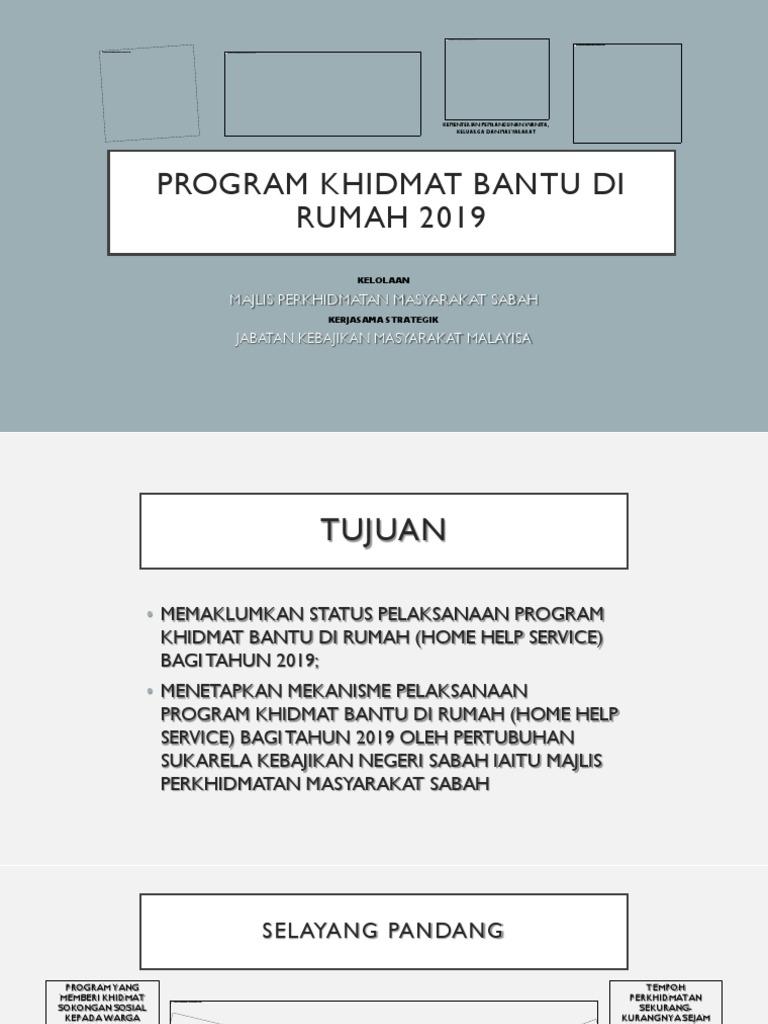 Program Khidmat Bantu Di Rumah 2019