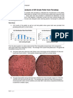 Microscopic Analysis of DR Grade Pellet From Paradeep