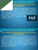 Clasificacion y Metodos de Propagacion de Virus
