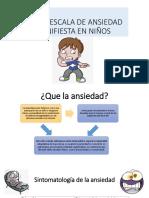 Cmas-rescala de Ansiedad Manifiesta en Niños