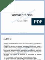 2019-I Farmacotécnia I - Introducción