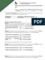 TEORIA Y EJERCICIOS DE COMPOSICION PORCENTUAL 3° CVM