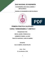 Primera Práctica - Termodinámica y Cinética I
