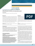 Aspectos diferenciales de la nutrición en los pacientes ancianos con diabetes