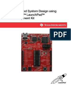 Embedded System Design Using Msp430 Launchpad Development Kit Pdf Microcontroller Electronic Design