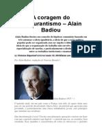 A coragem do obscurantismo - Alain Badiou.docx