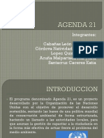 Documento sobre la agenda 21